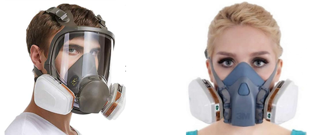 Full-face gas mask