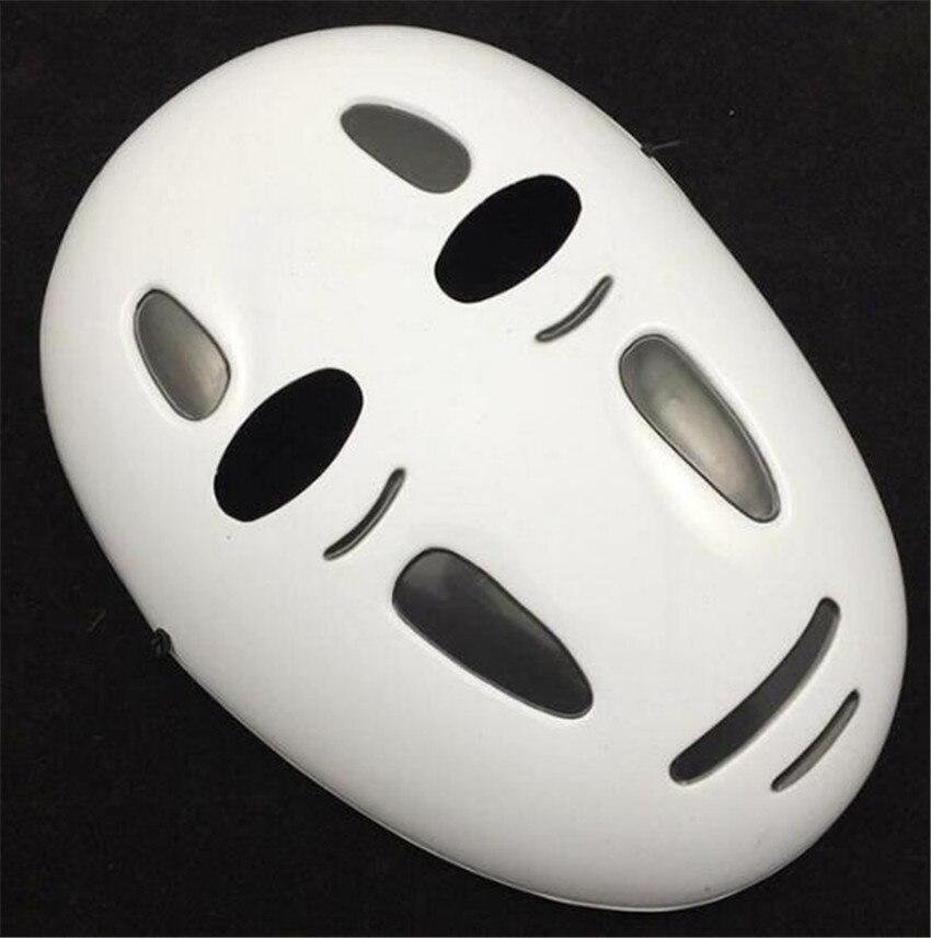 Kaonashi style Spirited Away No-Face Mask Faceless Cosplay helmet fancy Anime Halloween party Costume japanese masks Toys A624 2