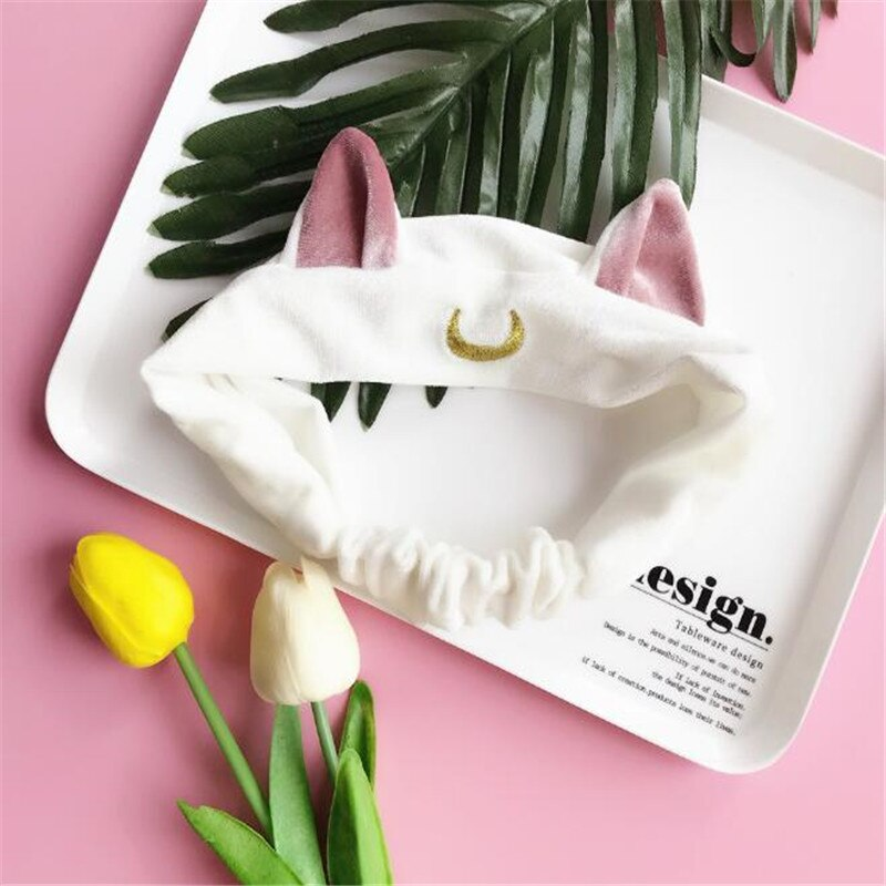 Sailor Moon Luna Cat Ears Hair Band Hair Accessory Headband  Cosplay Cute Face Washing Clean Makeup Tool Lolita Headwear A856 4
