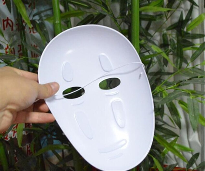 Kaonashi style Spirited Away No-Face Mask Faceless Cosplay helmet fancy Anime Halloween party Costume japanese masks Toys A624 3