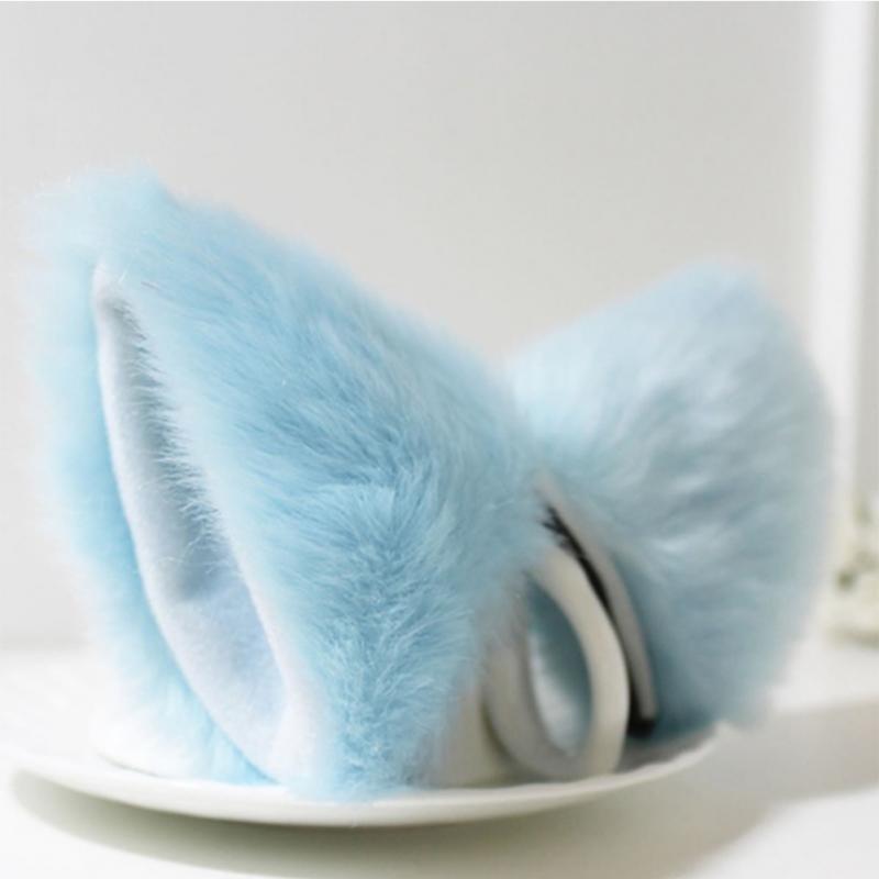 Lolita Anime Cosplay Long Fur Fox Ears Hair Clip Party Neko Cat Ear Dress Hair Accessories #734 4