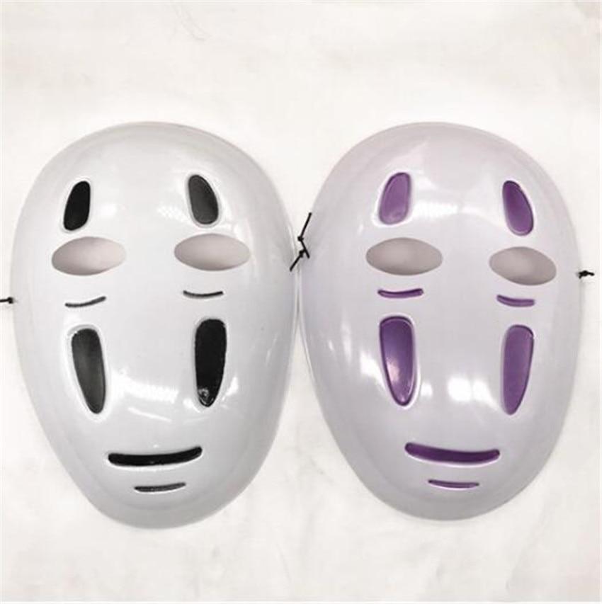 Kaonashi style Spirited Away No-Face Mask Faceless Cosplay helmet fancy Anime Halloween party Costume japanese masks Toys A624 1