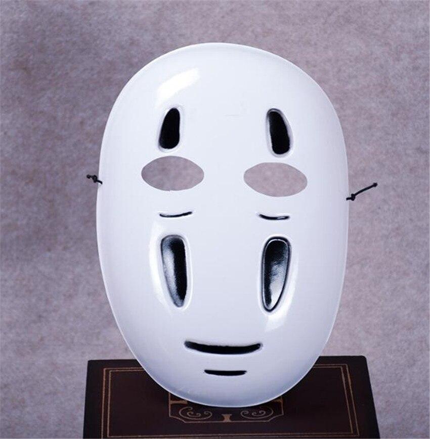Kaonashi style Spirited Away No-Face Mask Faceless Cosplay helmet fancy Anime Halloween party Costume japanese masks Toys A624 4