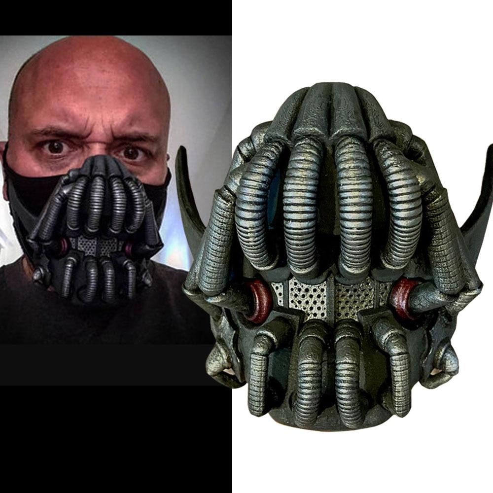 Movie The Dark Knight Batman Bane Mask Cosplay Props Latex Masks Halloween Helmets Mascarillas 1