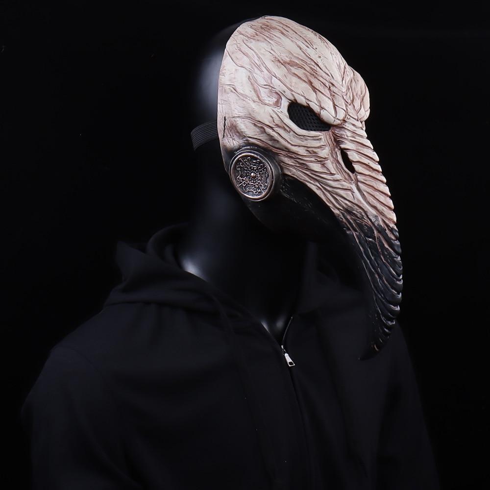 Steampunk Plague Doctor Mask Cosplay Long Nose Bird Beak Latex Masks Carnival Masquerade Halloween Party Costume Props New 3