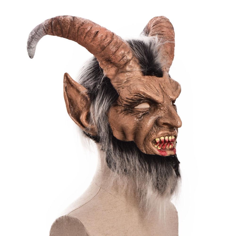 Lucifer Face Mask Devil Cosplay Masks Anime Mascarillas Halloween Demon Latex Masques Terror Costumes Props Masquerade Helmets 4