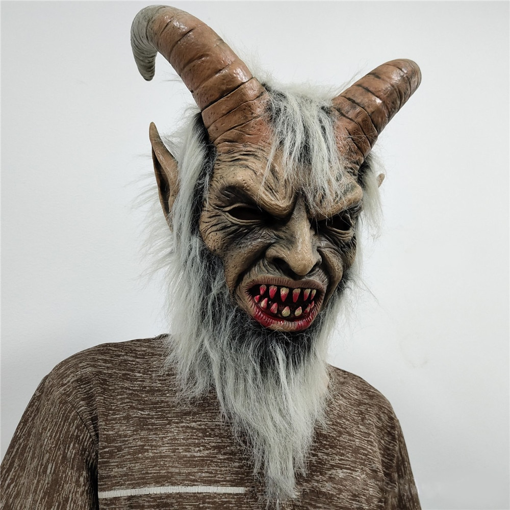 Lucifer Face Mask Devil Cosplay Masks Anime Mascarillas Halloween Demon Latex Masques Terror Costumes Props Masquerade Helmets 1
