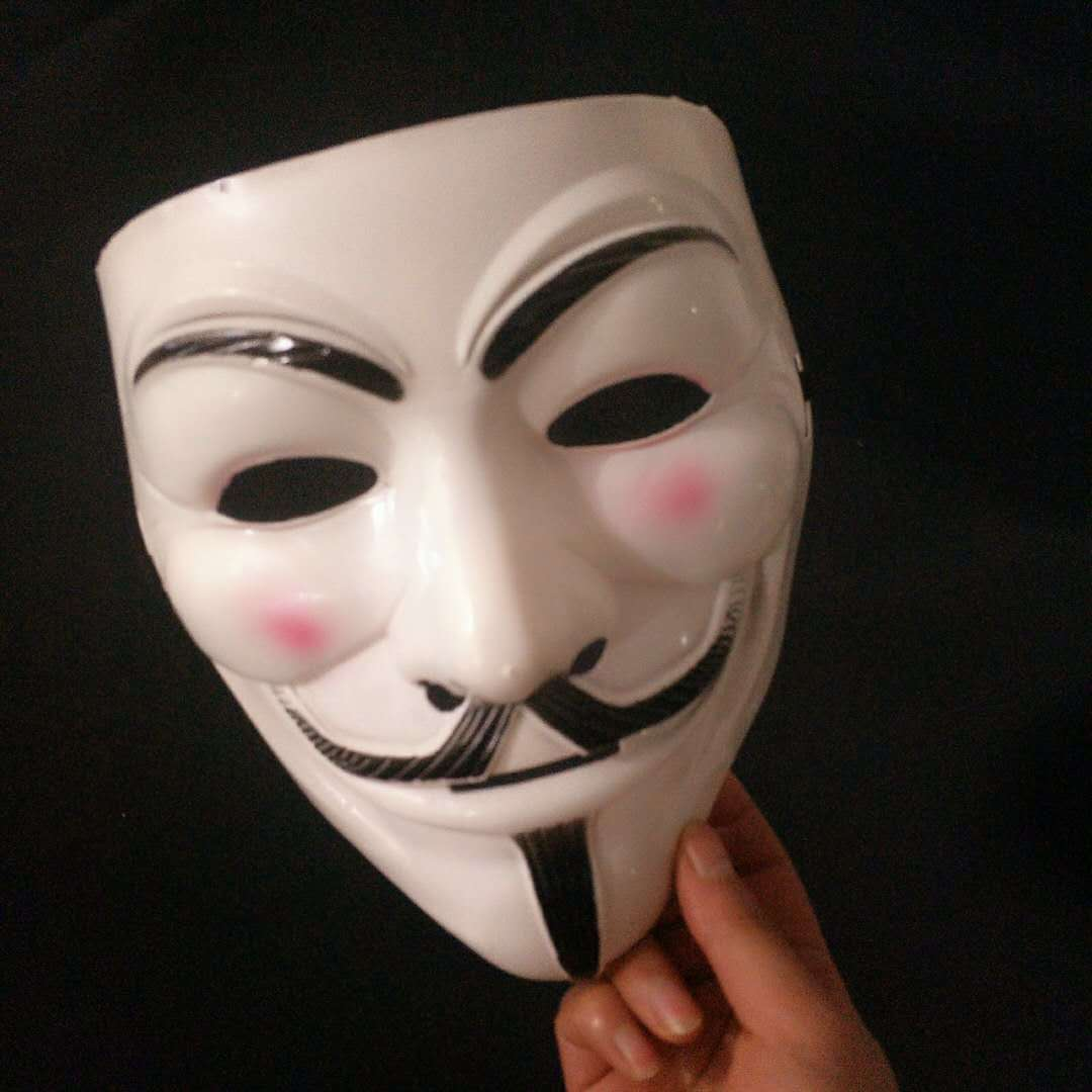 Halloween Masks V for Vendetta Mask Guy Fawkes Anonymous Fancy Dress Cosplay Costume 1