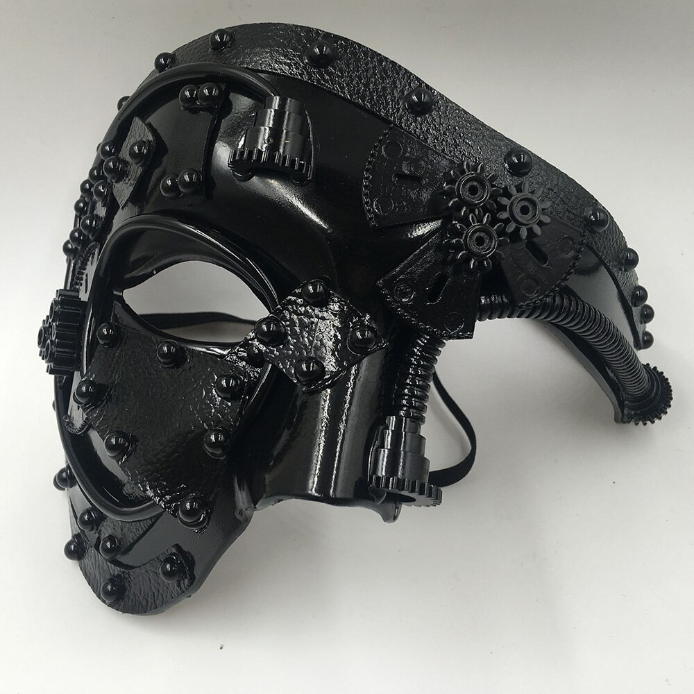 Steampunk  Phantom Masquerade Cosplay Mask Ball Half Face Men Punk Costume Halloween Party Costume Props 2