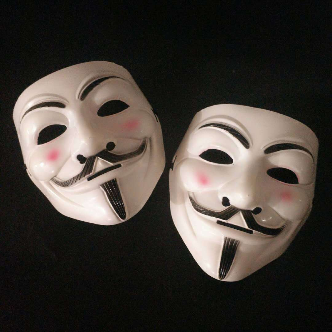 Halloween Masks V for Vendetta Mask Guy Fawkes Anonymous Fancy Dress Cosplay Costume 2