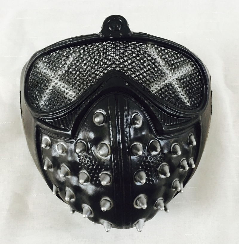 Wholesale Halloween Games Watch Dogs 2 Cosplay Mask Marcus Holloway Wrench Mask PVC Adult Men Cosplay Prop Costume Half Helmet 1
