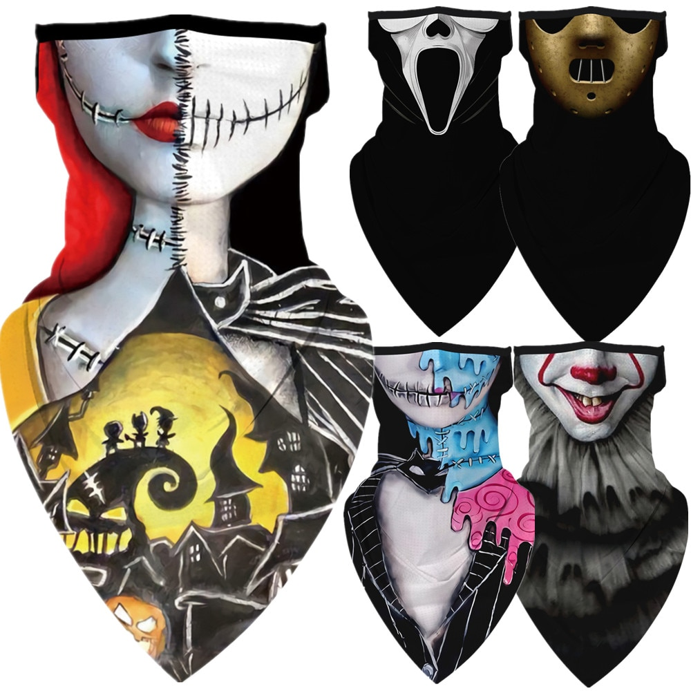 Halloween The Nightmare Before Christmas Killers Motorcycle Cycling Neck Scarf Masks Bandana Headband Cosplay Balaclava 1