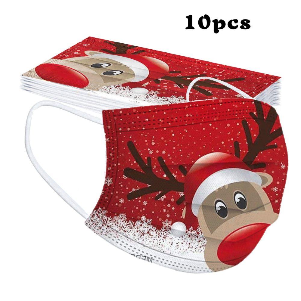 10/50pc Christmas Children Disposable Face Mask Mascarilla Halloween 3ply Ear Loop Cosplay Mask Masque Mondkapjes Mascherine 1