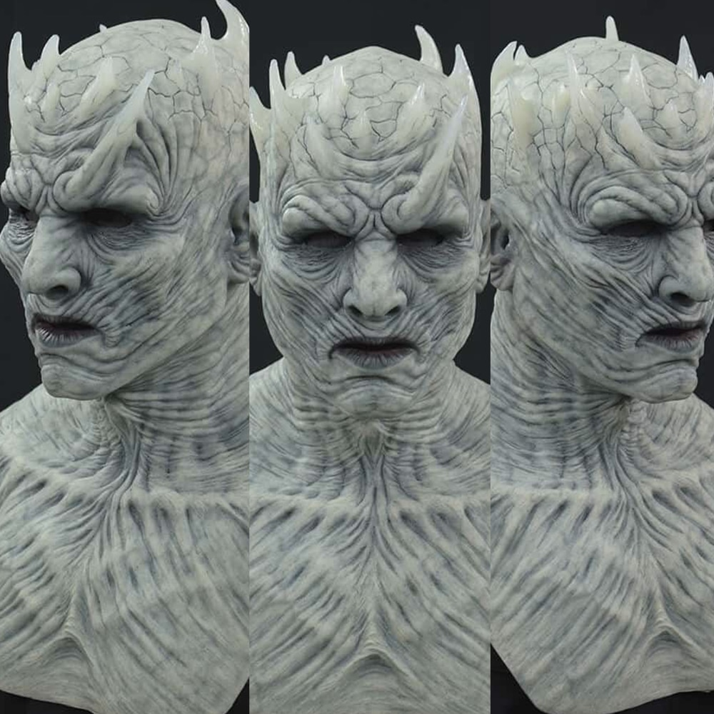 Horror The Night King Mask Cosplay Zombie Latex Masks Party Masquerade Cosplay Mascara Scary Face Mask Party Costume Props 1