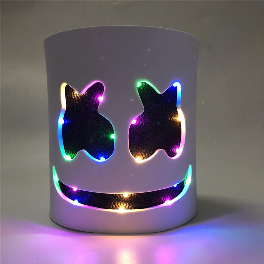 DJ LED Luminous Masks Helmet Mask Cosplay Prop DJ Halloween Party Luminous DJ Marshmallow Mask Halloween Party Cosplay 1