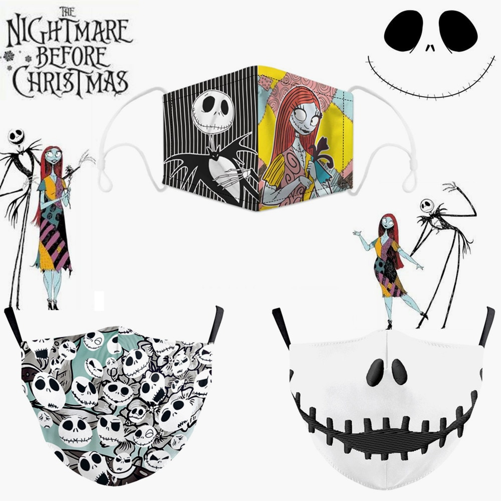Halloween Jack Skellington The Nightmare Before Christmas Cosplay Masks Sally Adult Party Carnival Street Sports Dust-proof Mask 1