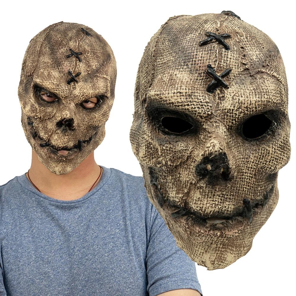 Horror Killer Skull Mask Cosplay Scary Skeleton Latex Masks Helmet Halloween Party Costume Props 1