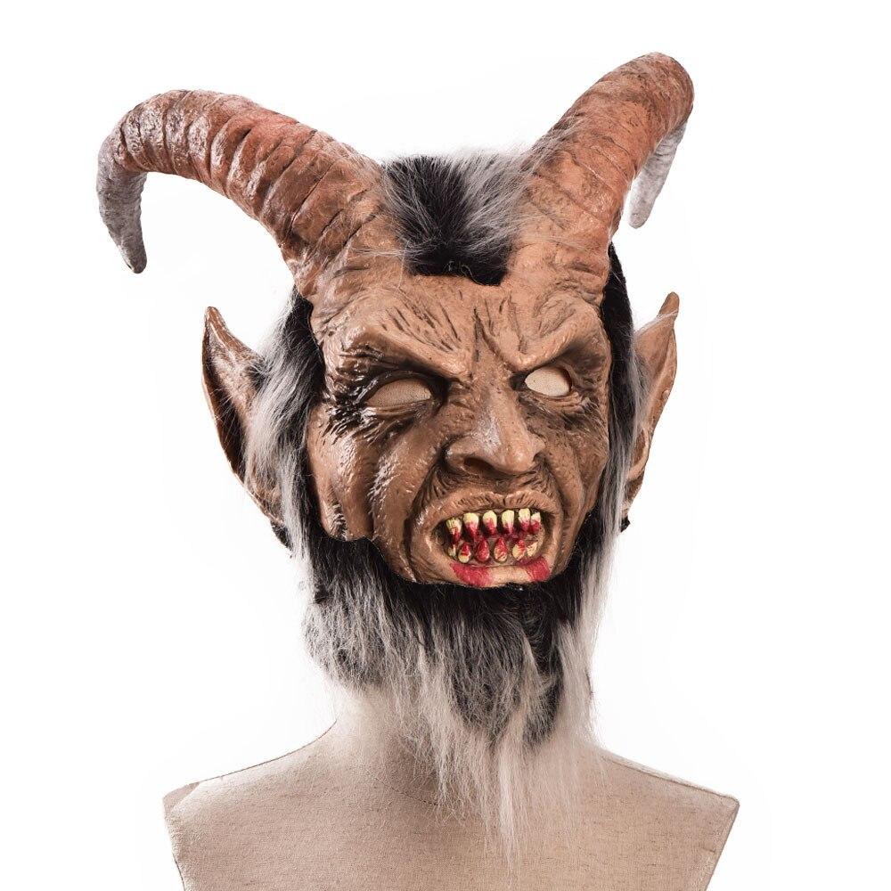Lucifer Face Mask Devil Cosplay Masks Anime Mascarillas Halloween Demon Latex Masques Terror Costumes Props Masquerade Helmets 3