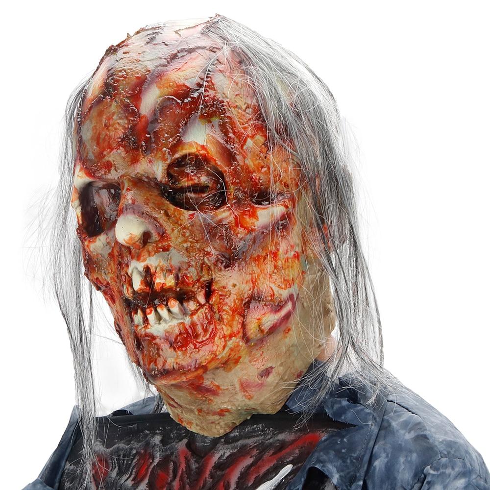 Molezu Halloween Bryophyte Biochemical Monster Mask Headgear Terrible Party Cosplay Mask Haunted House Horror Monster  Mask 4