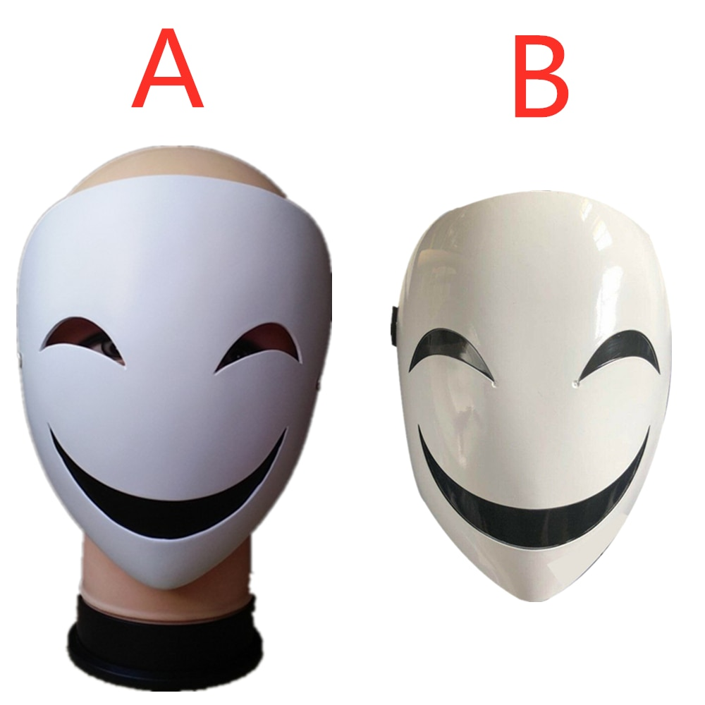 Adults Japanese Anime Black Bullet Hiruko White Visible Adjustable Mask Helmet Cosplay Costume Props Halloween Gifts Collection 1