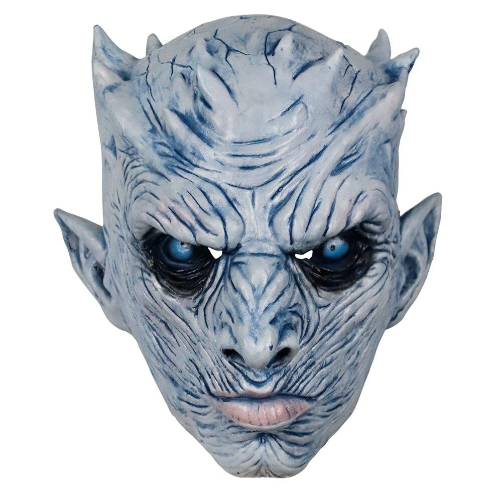 Molezu Halloween Night King Latex Mask Halloween Realistic Scary Cosplay Costume Latex Party Mask 6
