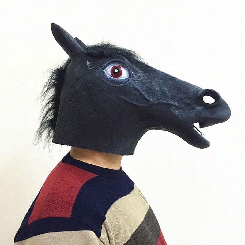 Halloween Mask Ball Cosplay Latex Horse Head Mask Animal Head Set Horse Mask Dog Horse Jun Horse Mask 6