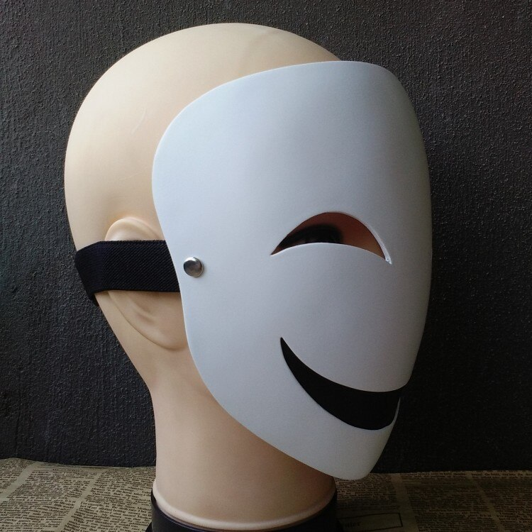 Adults Japanese Anime Black Bullet Hiruko White Visible Adjustable Mask Helmet Cosplay Costume Props Halloween Gifts Collection 2