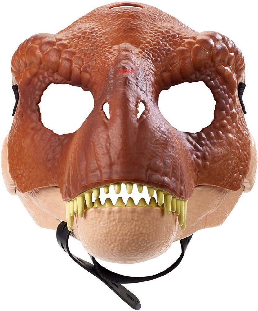 Dinosaur World Mask with Opening Jaw Tyrannosaurus Rex Halloween Cosplay Costume Kids Party Carnival Props Full Head Helmet 3