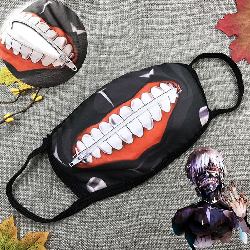 Tokyo Ghoul Kaneki Ken Mask Face Masks Cosplay Anime Dustproof Zipper Masks Props 1