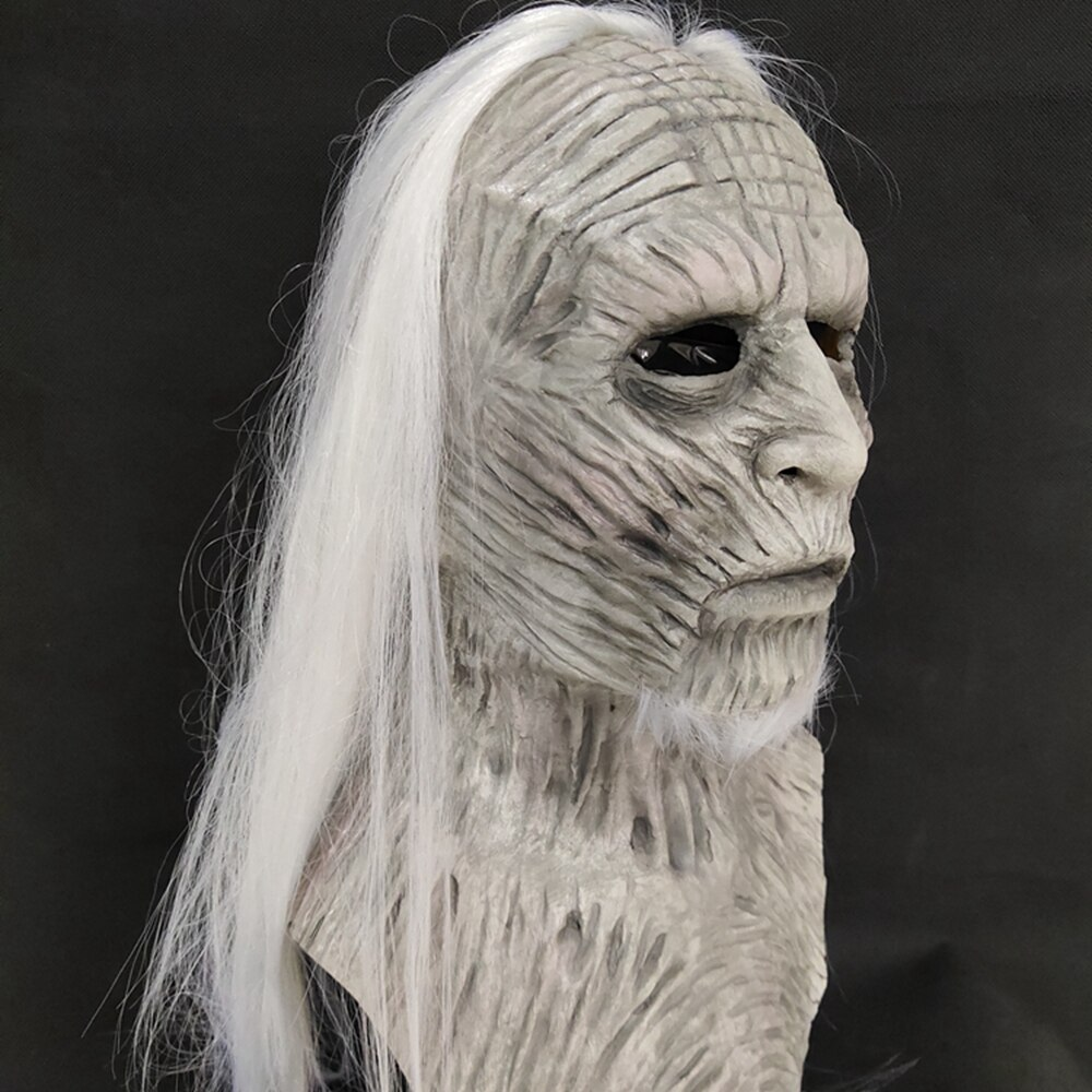 Molezu Halloween Night King Latex Mask Halloween Realistic Scary Cosplay Costume Latex Party Mask 4