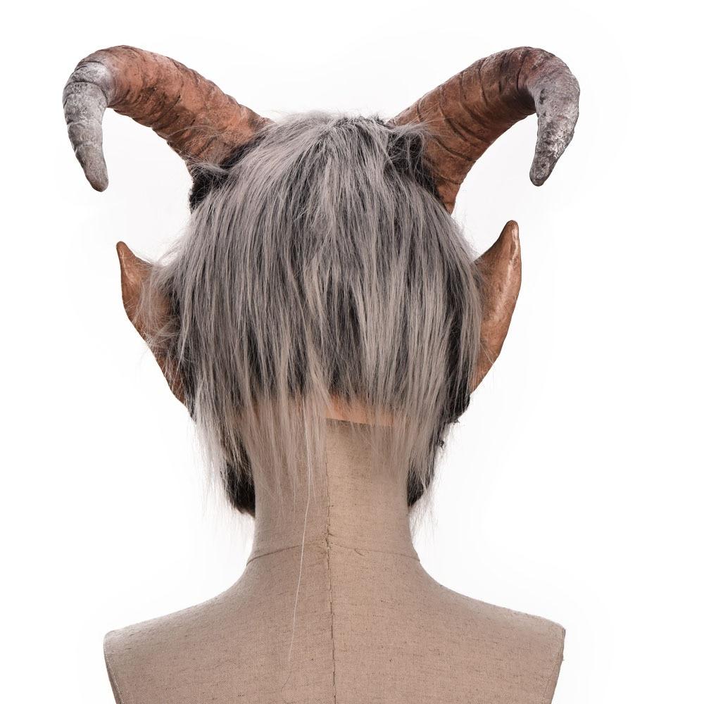 Lucifer Face Mask Devil Cosplay Masks Anime Mascarillas Halloween Demon Latex Masques Terror Costumes Props Masquerade Helmets 5
