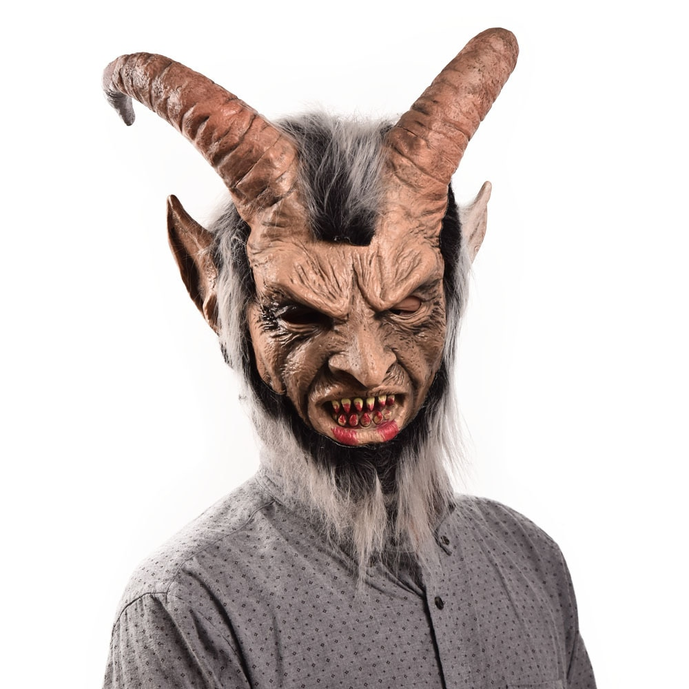 Lucifer Face Mask Devil Cosplay Masks Anime Mascarillas Halloween Demon Latex Masques Terror Costumes Props Masquerade Helmets 2