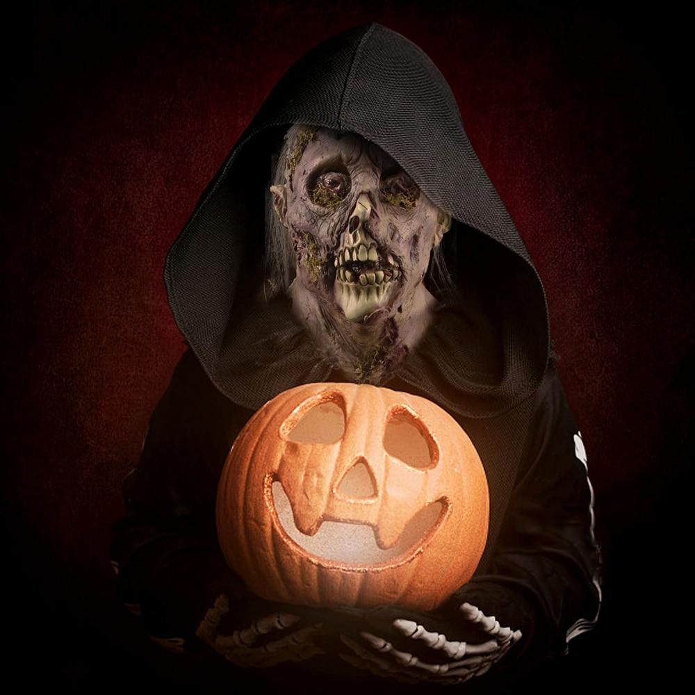 Molezu Halloween Bryophyte Biochemical Monster Mask Headgear Terrible Party Cosplay Mask Haunted House Horror Monster  Mask 5