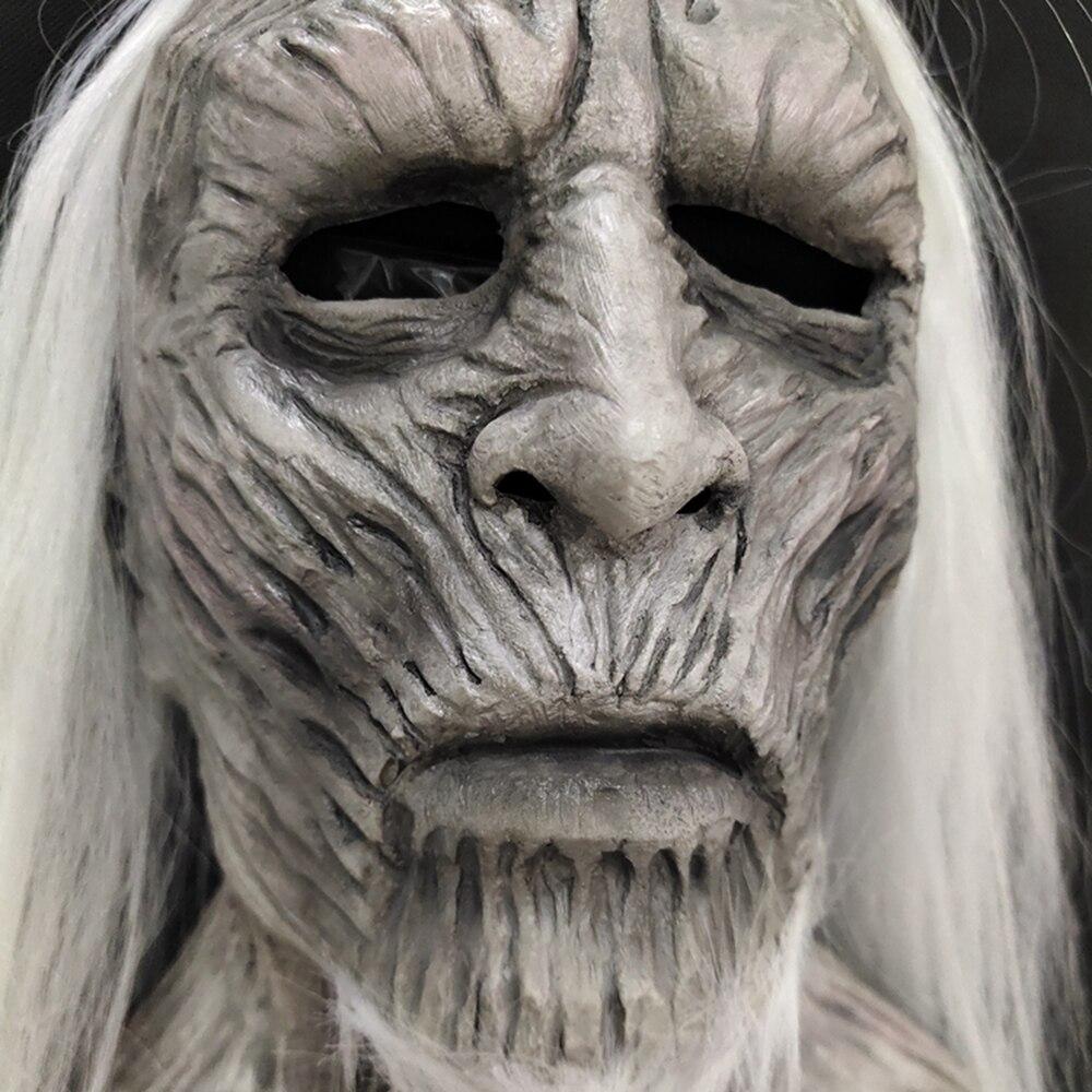 Molezu Halloween Night King Latex Mask Halloween Realistic Scary Cosplay Costume Latex Party Mask 2