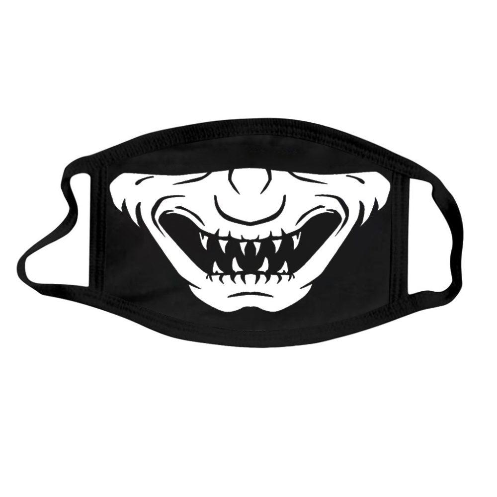 Halloween Cotton DIY Luminous Accessories Dust Masks Skeleton PM2.5 Dustproof Skull Half Face Mask Cosplay For Adult Skull Masks 6