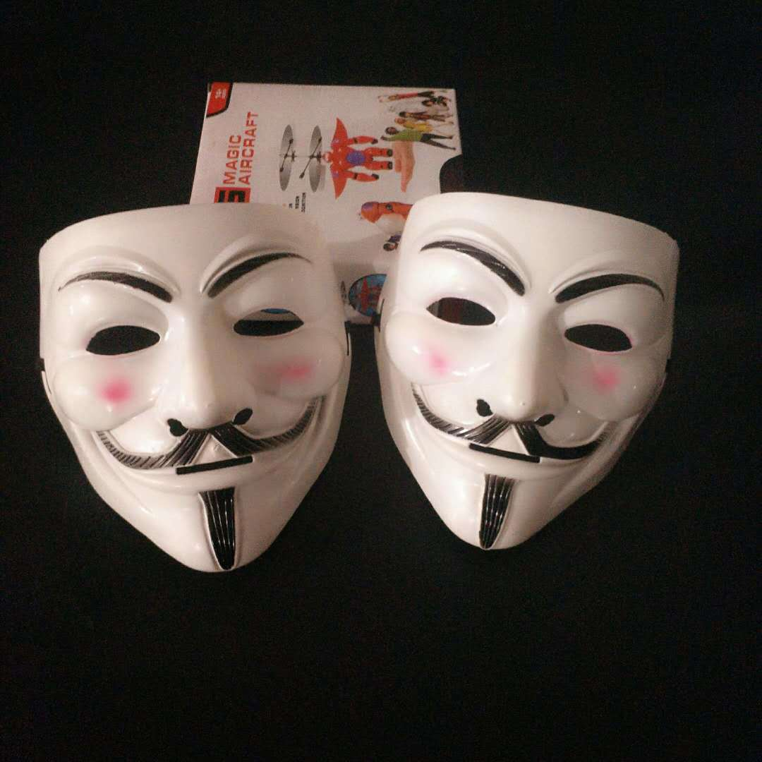 Halloween Masks V for Vendetta Mask Guy Fawkes Anonymous Fancy Dress Cosplay Costume 3