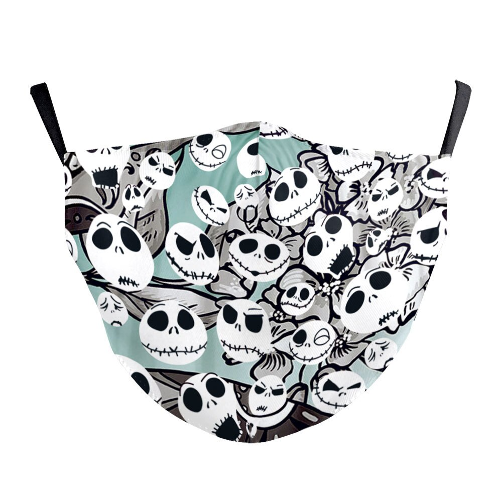 Halloween Jack Skellington The Nightmare Before Christmas Cosplay Masks Sally Adult Party Carnival Street Sports Dust-proof Mask 5