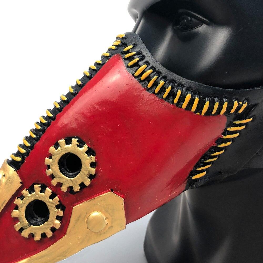 Anime My Hero Academia Overhaul Mask Cosplay Crow Mouth Plague Doctor Halloween Masks Steampunk Face Long Beak Gothic Helmet 5