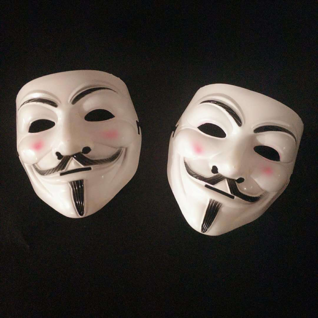 Halloween Masks V for Vendetta Mask Guy Fawkes Anonymous Fancy Dress Cosplay Costume 4