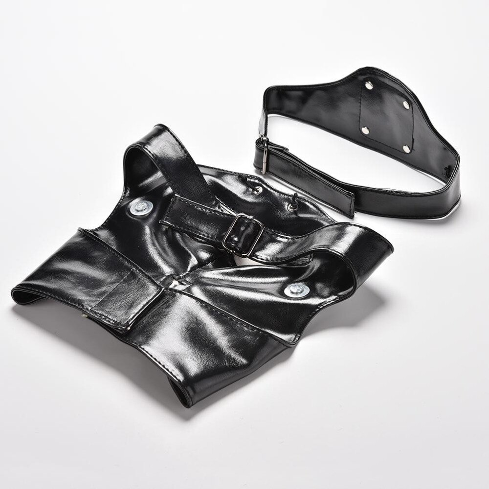 new Party Cosplay costume Anime Adjustable Zipper Halloween Accessories PU Leather Japanese Blinder Kaneki Ken Tokyo Ghoul Mask 4