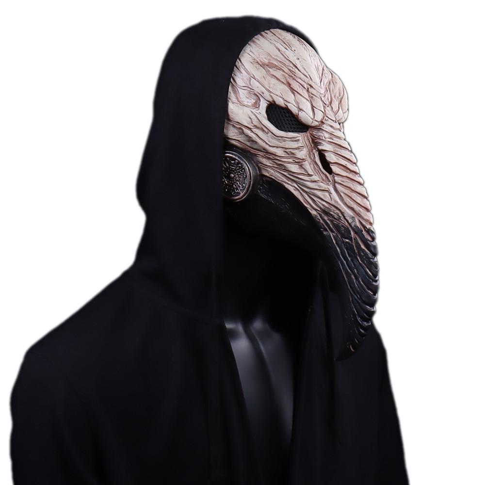 Steampunk Plague Doctor Mask Cosplay Long Nose Bird Beak Latex Masks Carnival Masquerade Halloween Party Costume Props New 1