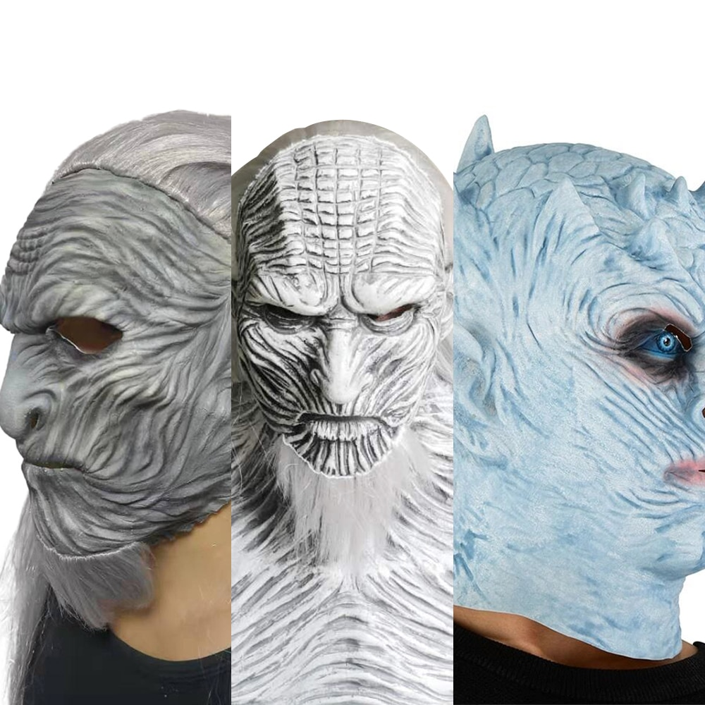 Horror The Night King Mask Cosplay Zombie Latex Masks Party Masquerade Cosplay Mascara Scary Face Mask Party Costume Props 2