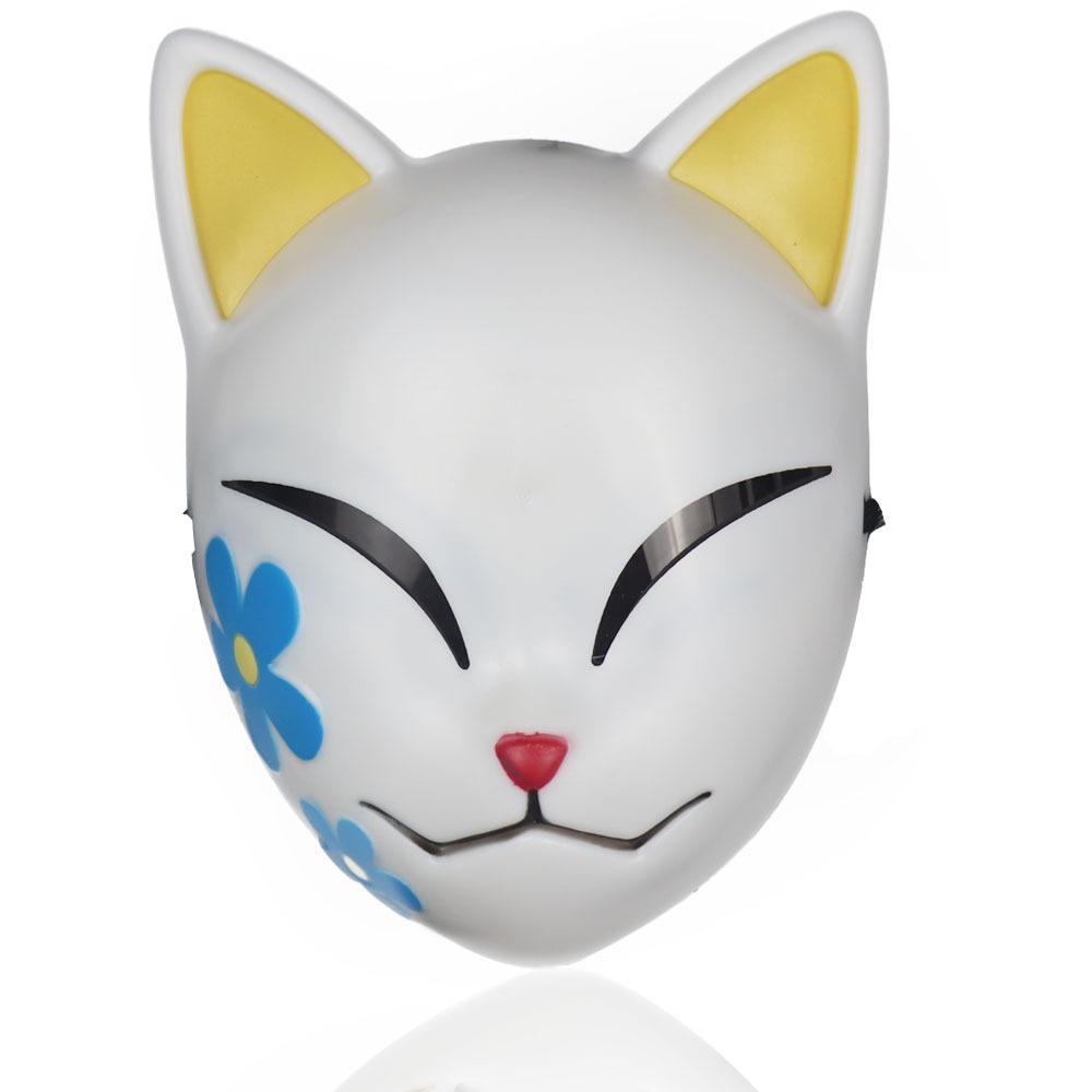 Anime Demon Slayer Kamado Tanjirou Sabito Makomo Plastic Cosplay Mask Headwear Hannya Tengu Masks Halloween Party Mask Props 4