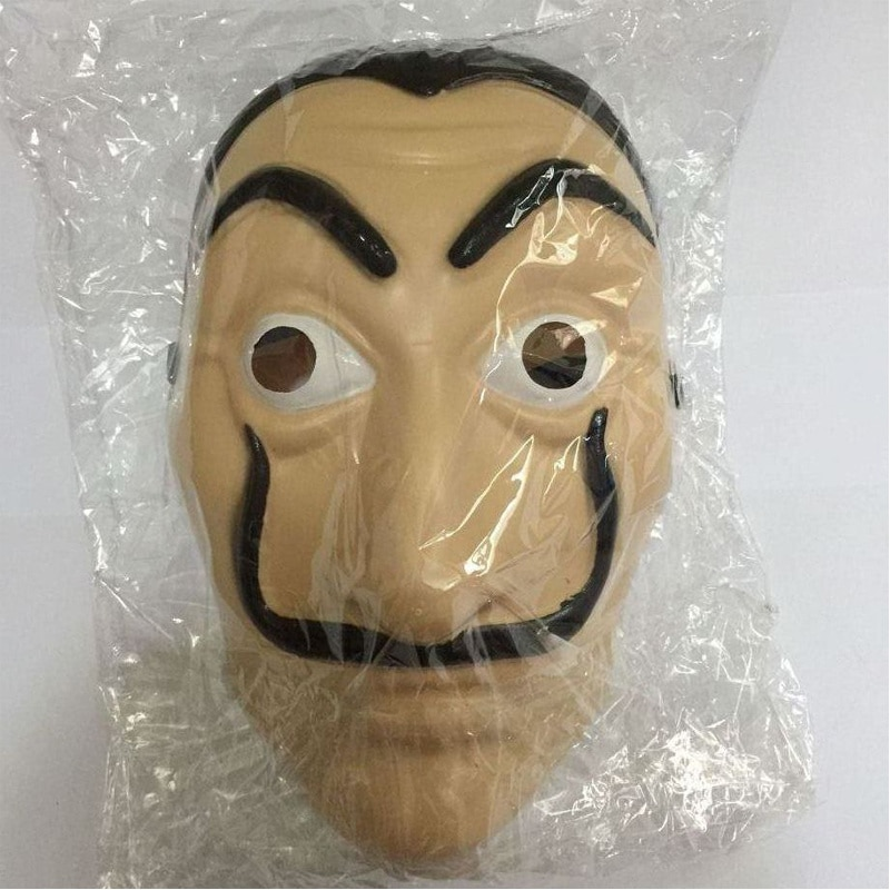 Comedy Master La Casa De Papel Dali Mask Halloween Masquerade Cosplay Funny Accessories 2