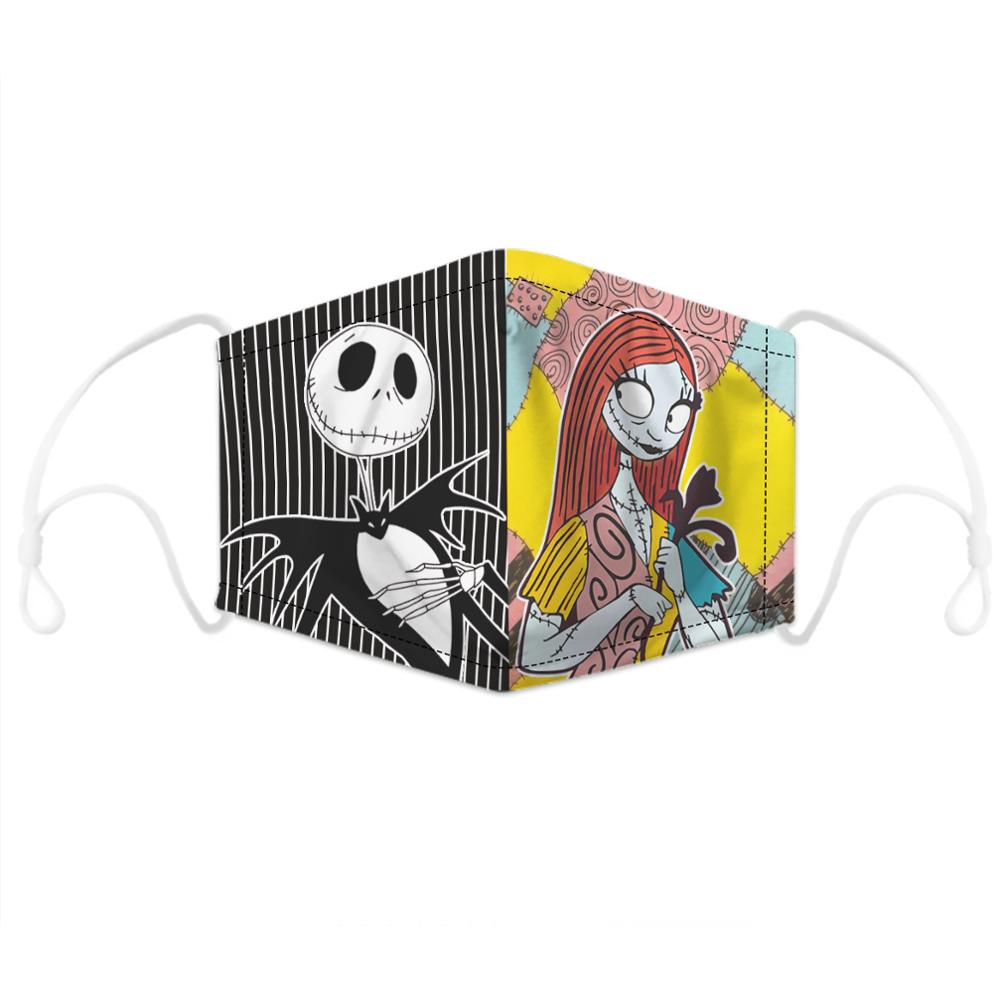 Halloween Jack Skellington The Nightmare Before Christmas Cosplay Masks Sally Adult Party Carnival Street Sports Dust-proof Mask 2
