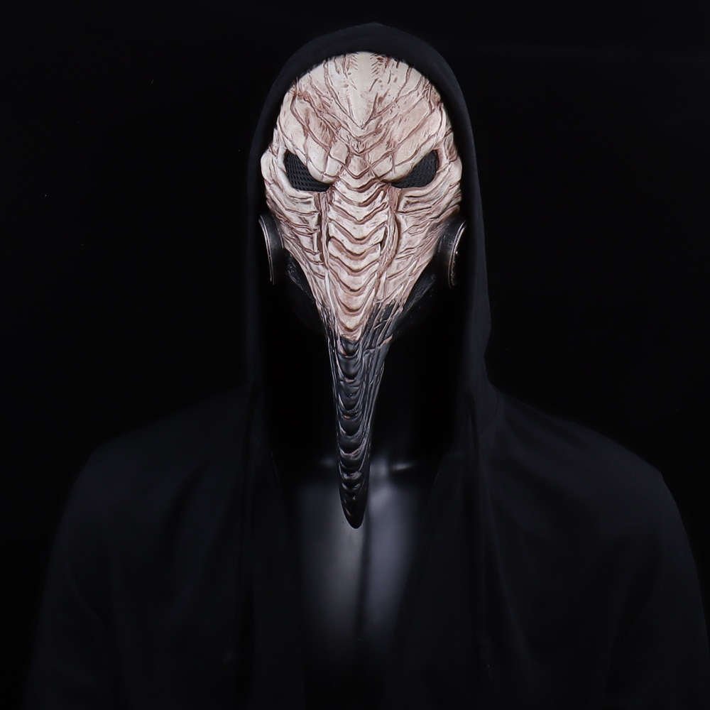 Steampunk Plague Doctor Mask Cosplay Long Nose Bird Beak Latex Masks Carnival Masquerade Halloween Party Costume Props New 2
