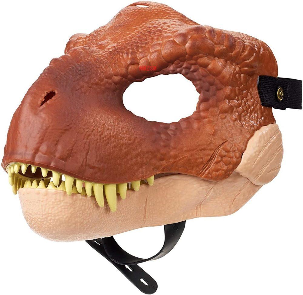 Dinosaur World Mask with Opening Jaw Tyrannosaurus Rex Halloween Cosplay Costume Kids Party Carnival Props Full Head Helmet 2