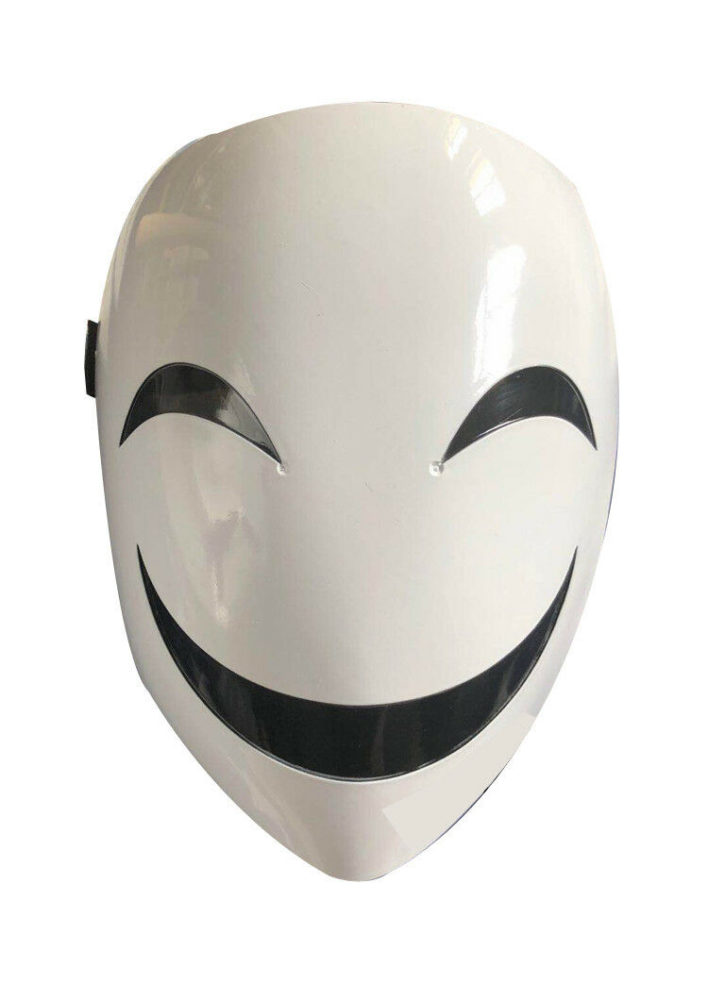 Adults Japanese Anime Black Bullet Hiruko White Visible Adjustable Mask Helmet Cosplay Costume Props Halloween Gifts Collection 7