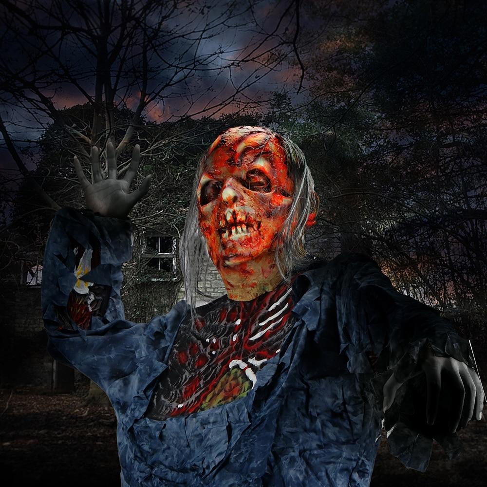 Molezu Halloween Bryophyte Biochemical Monster Mask Headgear Terrible Party Cosplay Mask Haunted House Horror Monster  Mask 6