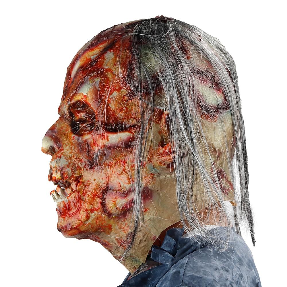 Molezu Halloween Bryophyte Biochemical Monster Mask Headgear Terrible Party Cosplay Mask Haunted House Horror Monster  Mask 3